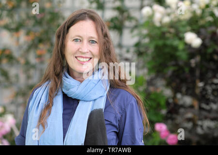 Hay Festival, Hay on Wye, Powys, Wales, UK - Thursday 30th May 2019 - Traveller and presenter Alice Morrison at the Hay Festival to talk about her journeys through Morocco to Timbuktu. Photo Steven May / Alamy Live News - Stock Image