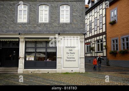 historisches cafe teestube restaurant goslar harz mountians travel tourism germany deutschland - Stock Image