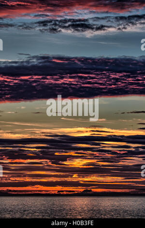 Findochty Sunset - Stock Image