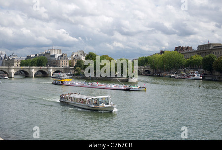 The River Seine in Paris France - Stock Image