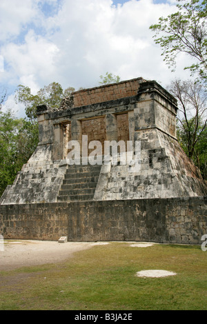 The North Temple aka the Temple of the Bearded Man at the End of the Great Ballcourt, Juego de Pelota, Chichen Itza, - Stock Image