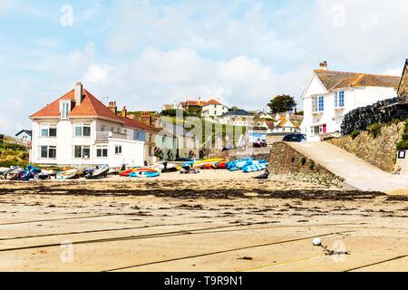 Hope Cove, Devon, UK, England, Hope Cove Devon, Inner Hope beach, Devon beaches, Devon beach, Hope Cove beach, Hope Cove beaches, Devon, devon, beach, - Stock Image