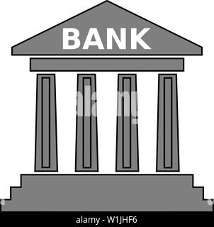 bank building architecture office structure facade exterior financial illustration columns - Stock Image