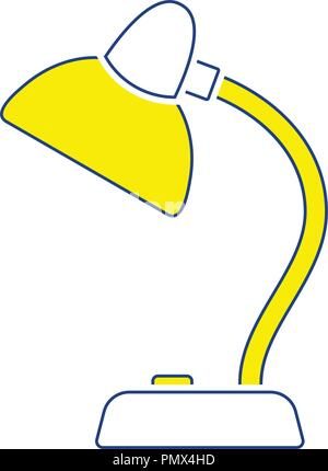 Icon of Lamp . Thin line design. Vector illustration. - Stock Image