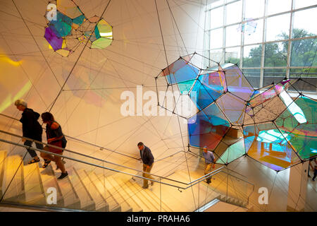 USA Maryland Baltimore MD Baltimore Museum of Art interior staircase - Stock Image