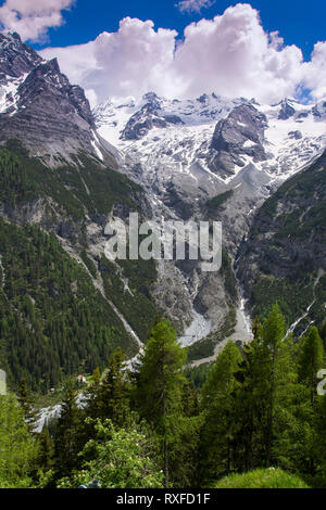 Ortler alps enroute to the Stelvio Pass in South Tyrol, northern Italy - Stock Image