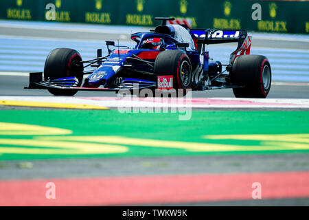 Marseille, France. 21st June 2019, Circuit Automobile Paul Ricard, Le Castellet, Marseille, France ; FIA Formula 1 Grand Prix of France, practise sessions; Daniil Kvyat of the Toro Rosso Team in action during free practice 1 Credit: Action Plus Sports Images/Alamy Live News - Stock Image