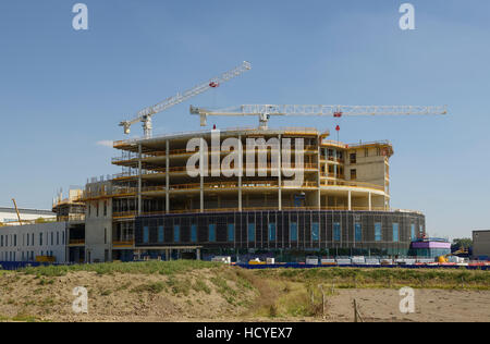 Construction of the new NHS Papworth hospital on the outskirts of Cambridge UK - Stock Image
