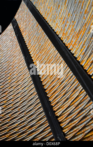 Braided extra strong steel cable - Stock Image