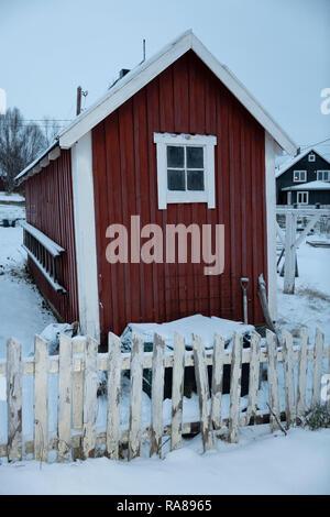 Garden hut, Kirkenes, Norway. - Stock Image