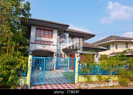 Residential detached homes, Park View City Village, Prawet, Bangkok, Thailand - Stock Image