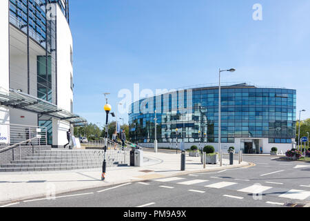 Eastern Gateway and Mary Seacole Buildings, Brunel University London, Uxbridge, London Borough of Hillingdon, Greater London, England, United Kingdom - Stock Image
