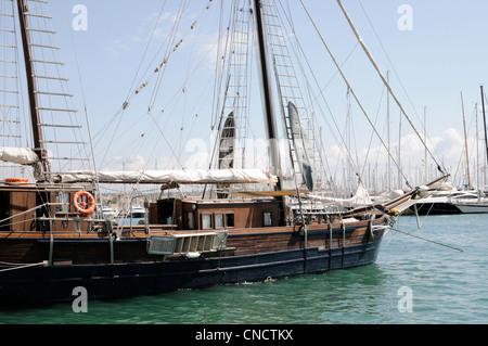 Segelschiff Rafael Verdera, Palma, Mallorca, Spanien, Europa.   Sailing ship Rafael Verdera, Palma, Majorca, Spain, - Stock Image