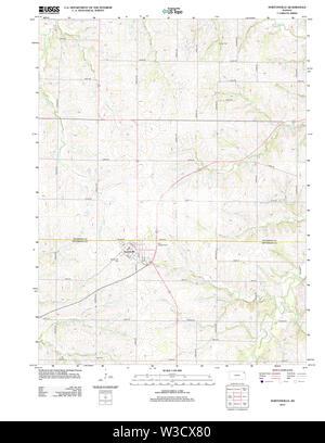 USGS TOPO Map Kansas KS Nortonville 20120906 TM Restoration - Stock Image