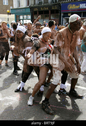 Dancers at the Nottinghill Carnival 2010 - Stock Image