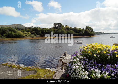 Picturesque cove in Glengarriff Harbour .County Cork,Ireland. - Stock Image