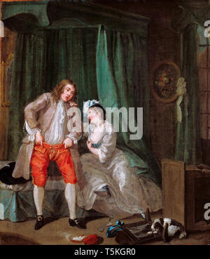 William Hogarth, After, painting, c. 1730 - Stock Image