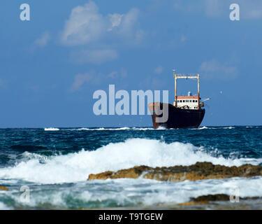 Shipwrecked MV Demetrios II, Cyprus - Stock Image