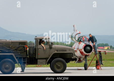 Croatian Air Force MiG-21 UMD - Stock Image