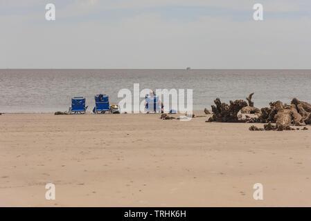 Jekyll Island Beach Brunswick Georgia USA - Stock Image