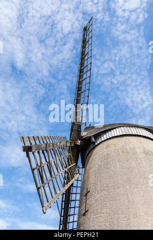 Close up of the sails of Bidston Windmill Wirral August 2018 - Stock Image