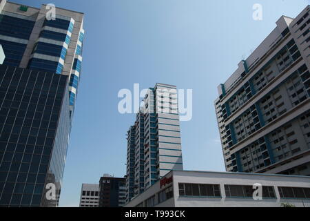 High rise apartment block, Singapore Central District - Stock Image