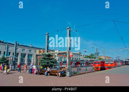 Finlyandskiy Vokzal, railway station, Saint Petersburg, Russia - Stock Image