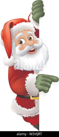 Santa Claus Christmas Cartoon Character - Stock Image