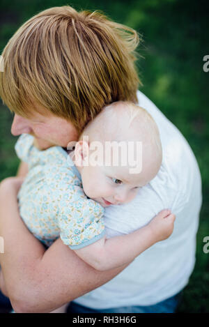 Father with daughter - Stock Image