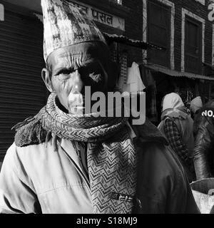 Old Nepali man, 2016 - Stock Image