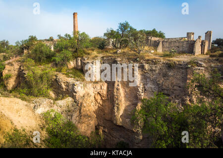 Pozos de Mineral miners town in Mexico - Stock Image