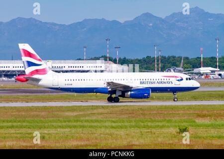 British Airways, Airbus A320-200 G-EUUB - Stock Image