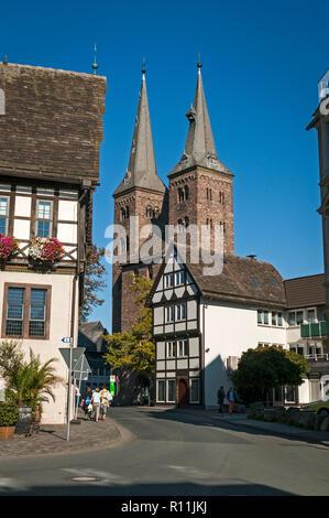 Old Town Hall & St. Kilian's Church, Höxter, NRW, Germany. - Stock Image