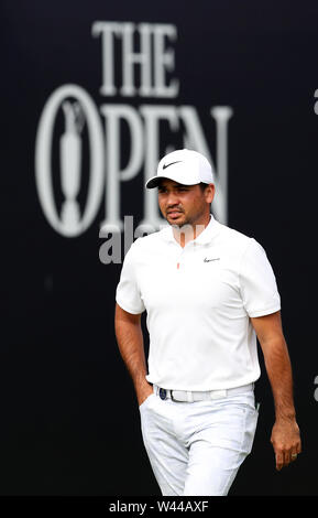 Portrush, County Antrim, Northern Ireland. 19th July 2019. The 148th Open Golf Championship, Royal Portrush, Round Two ; Jason Day (AUS) walks from the first tee Credit: Action Plus Sports Images/Alamy Live News - Stock Image