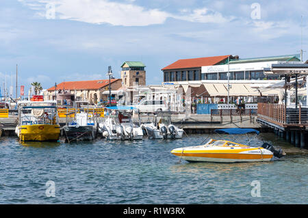 Harbour view, Paphos (Pafos), Pafos District, Republic of Cyprus - Stock Image