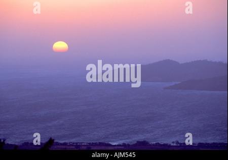 Sunset Costa Rica North west coast - Stock Image