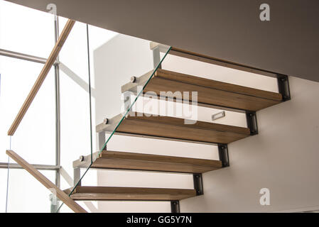 Modern staircase in house - Stock Image