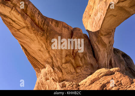 Detail from Arches National Park, Utah, USA that looks like a petrified giant - Stock Image