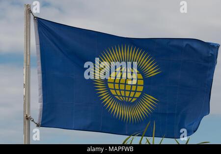 British Commonwealth Flag - Stock Image