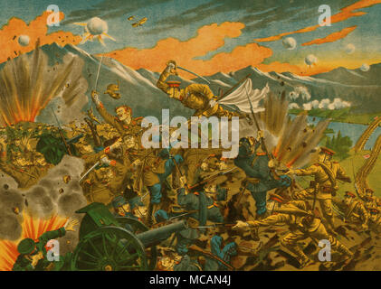 battle of Usri [i.e. Ussuri], Siberia. Captain Konomi died in the battle, fighting - Stock Image