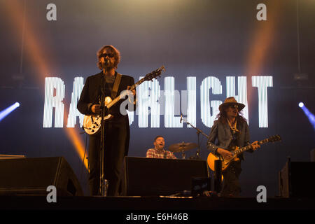 Portsmouth, Hampshire, UK. 23rd August, 2014. Victorious Festival - Saturday, Southsea, Hampshire, England. Razorlight - Stock Image