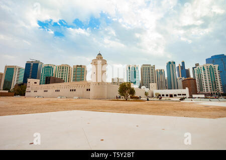 Qasr Al Hosn or White Fort is the oldest stone building in the city of Abu Dhabi, the capital of the United Arab Emirates - Stock Image