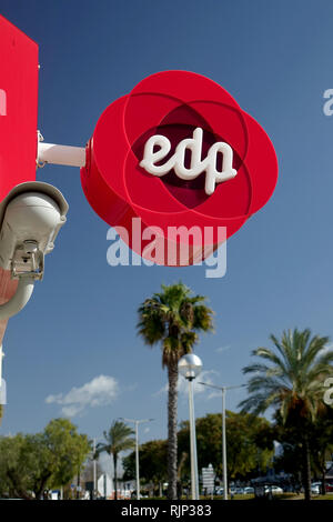 EDP Group Energias de Portugal Sign Outside A Shop In Albufeira A Supplier Of Electricity In Portugal - Stock Image