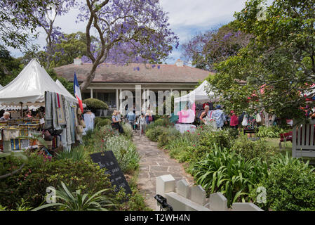 The entrance to Eryldene the home of Professor E G Waterhouse in Gordon, Sydney Australia who was a world expert in the cultivation of Camellias. - Stock Image