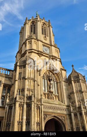 Tom Tower, Christ Church College, Oxford, England, United Kingdom - Stock Image
