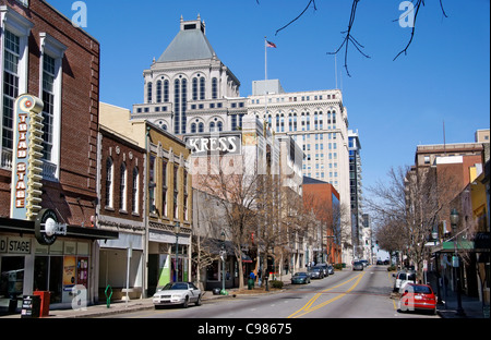 Greensboro, NC, North Carolina. Elm street. - Stock Image