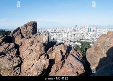 Corona Heights provides a great view of San Francisco - Stock Image