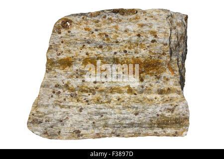 Granulite (Inari granulite belt) with cordierite, quartz, garnet, feldspar - Stock Image