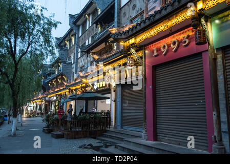 cityscape of Dujiangyan city, Sichuan Province, China - Stock Image