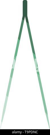 Electric Tweezers Icon. Flat Color Ladder Design. Vector Illustration. - Stock Image